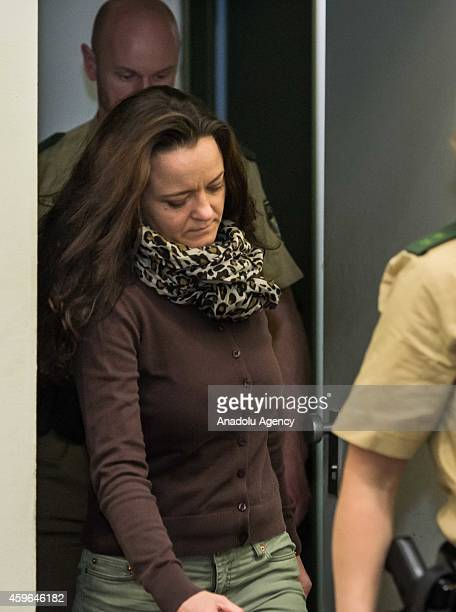 Codefendant Beate Zschaepe arrives for the start of the 165th day of the National Socialist Underground neoNazi murders trial in Oberlandesgericht in...