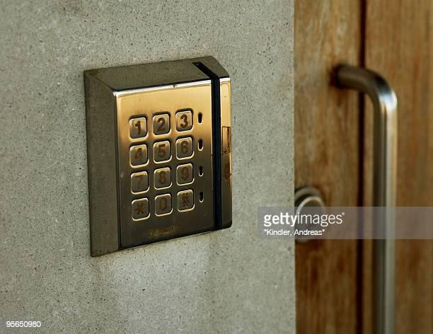 A code-lock, close-up, Sweden.
