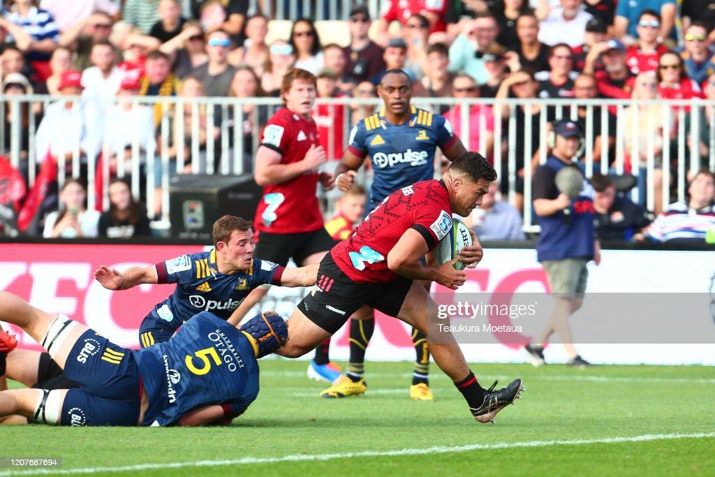Super Rugby Rd 4 - Crusaders v Highlanders : News Photo