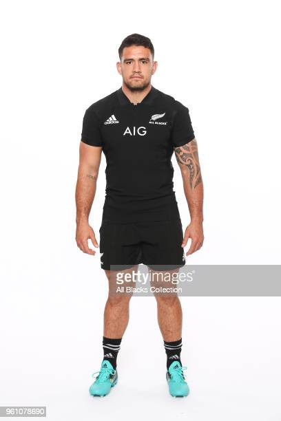 Codie Taylor poses during a New Zealand All Blacks headshots session on May 21 2018 in Auckland New Zealand