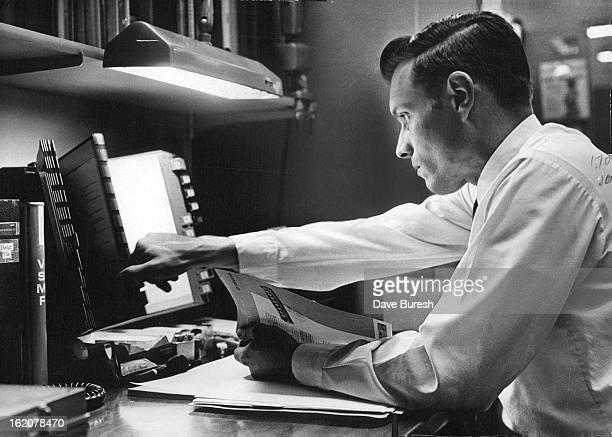 MAY 20 1971 JUN 7 1971 IHS coding engineer Bruce Anderson indexes product information provided by a manufacturer Indexing is the heart of the his...