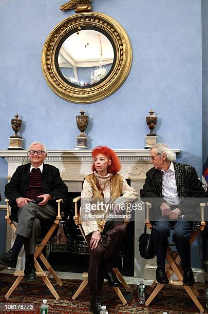 Codirector Albert Maysles and artists JeanneClaude and Christo address the audience after the HBO Documentary Films Screening of The Gates at Gracie...