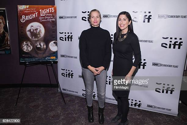CoDirector Alexis Bloom and KOMO TV Reporter Lindsay Cohen arrive at the Seattle Premiere of the HBO Documentary 'Bright Lights' at SIFF Cinema...