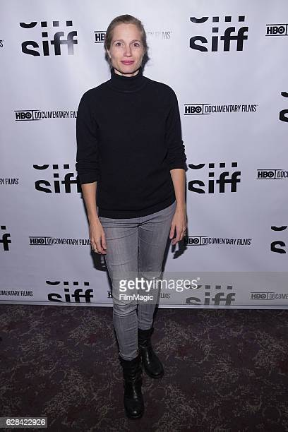 CoDirector Alexis Bloom arrives at the Seattle Premiere of the HBO documentary 'Bright Lights' at SIFF Cinema Uptown Theatre on December 7 2016 in...