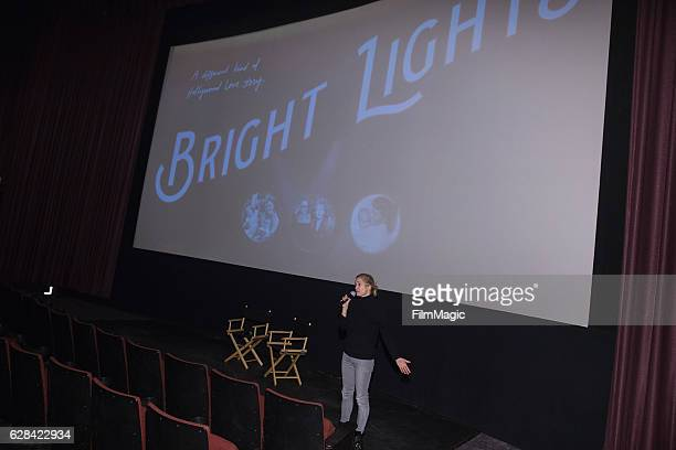CoDirector Alexis Bloom speaks before the Seattle Premiere of the HBO Documentary 'Bright Lights' at SIFF Cinema Uptown Theatre on December 7 2016 in...