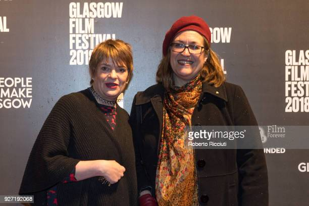 GFF codirector Allison Gardner and Lord Provost of Glasgow Eva Bolander attend the World Premiere of 'Nae Pasaran' and closing gala of the 14th...
