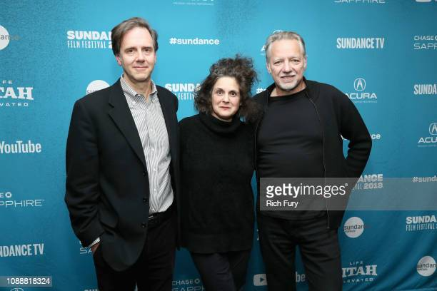 CoDirector and Producer Nicholas de Pencier CoDirector and Writer Jennifer Baichwal and CoDirector and DP Ed Burtynsky attend the 'Anthropocene The...