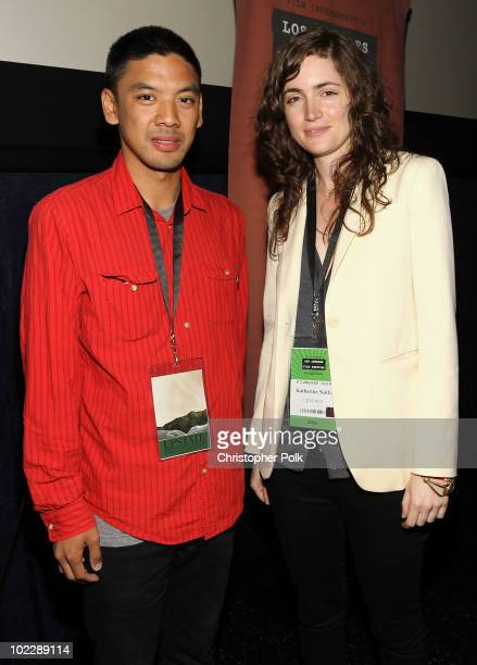 """Co-Director Andrew Luis and writer/Director Katherine Nolfi attend the """"Upstate"""" Q&A during the 2010 Los Angeles Film Festival at Regal Cinemas at LA..."""