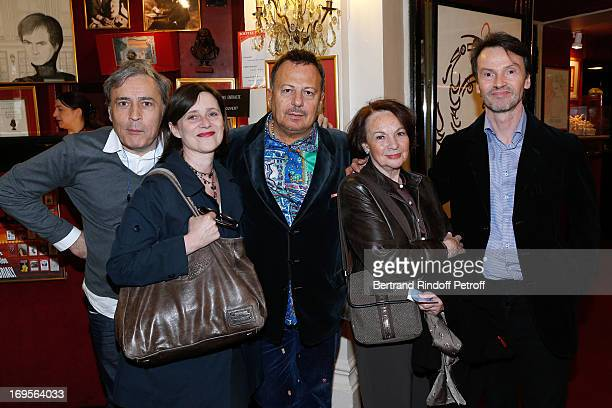 CoDirector Bruno Bouvier productor Laurence Meller director HenriJean Servat actress Francoise Arnoul and Bruno Finck attend Homage To French Actor...