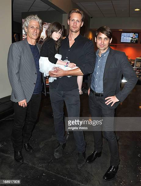 Codirector David Siegel actors Onata Aprile and Alexander Skarsgard and codirector Scott McGehee attend the LA Times Indie Focus Screening of What...