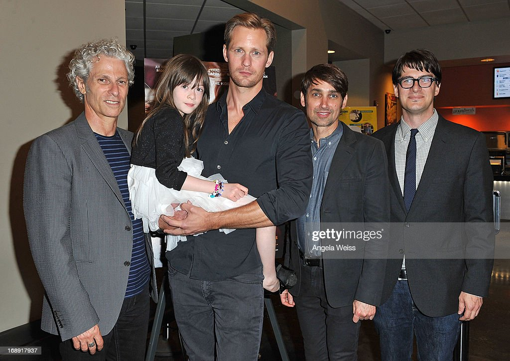 Co-director David Siegel, actors Onata Aprile and Alexander Skarsgard, co-director Scott McGehee and LA Times writer Mark Olsen attend the LA Times Indie Focus Screening of 'What Masie Knew' at Laemmle NoHo 7 on May 16, 2013 in North Hollywood, California.