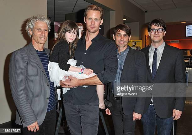Codirector David Siegel actors Onata Aprile and Alexander Skarsgard codirector Scott McGehee and LA Times writer Mark Olsen attend the LA Times Indie...