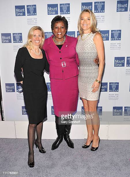 CoDirector Dubin Breast Center Dr Elisa Port event host Pat Battle and Dr Eva AnderssonDubin attend the opening of Dubin Breast Center at the Tisch...
