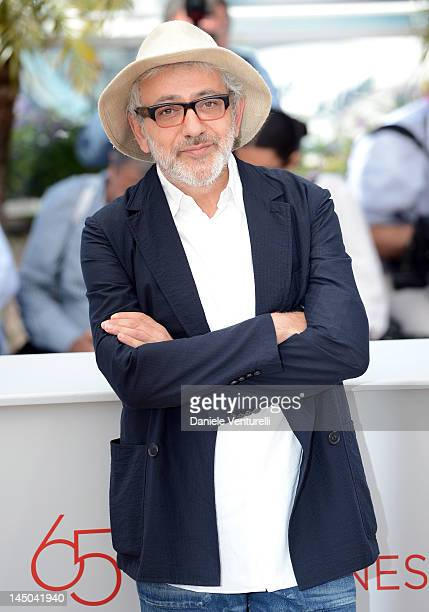 CoDirector Elia Suleiman poses at the 7 Dias En La Habana Photocall during the 65th Annual Cannes Film Festival at Palais des Festivals on May 23...