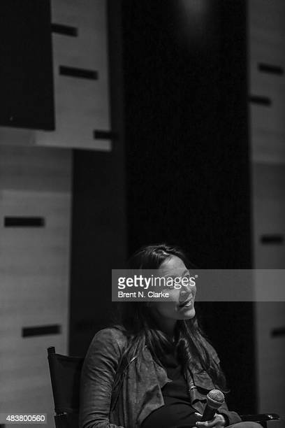 Codirector Elizabeth Chai Vasarhelyi speaks on stage during the 2015 Film Society of Lincoln Center Summer Talks with Meru held at the Elinor Bunin...
