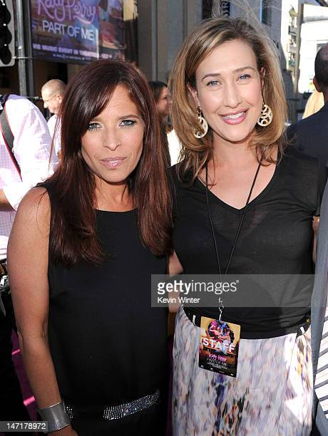 Codirector Jane Lipsitz and Paramount Pictures' president of digital entertainmen Amy Powell arrive at the premiere of 'Katy Perry Part Of Me' at...