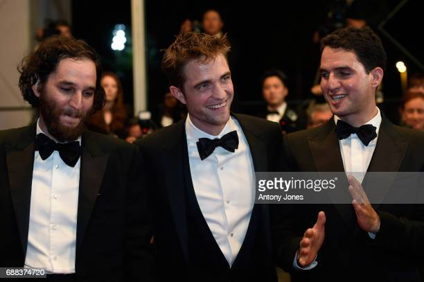 Codirector Joshua Safdie actor Robert Pattinson writer and codirector Ben Safdie attend the 'Good Time' screening during the 70th annual Cannes Film...