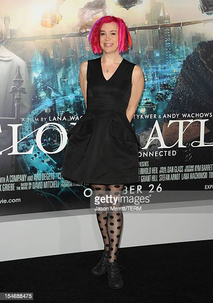 CoDirector Lana Wachowski arrives at Warner Bros Pictures' Cloud Atlas premiere at Grauman's Chinese Theatre on October 24 2012 in Hollywood...