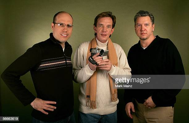 Codirector Matt Radecki subject Rick Kirkham and codirector Michael Cain of the documentary TV Junkie poses for a portrait at the Getty Images...