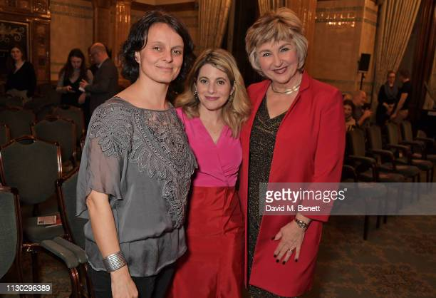 CoDirector of 'Beyond the Streets' Josephine Knowles Hallie Rubenhold and Lesley Garrett attend a panel discussion on the lives of the women killed...