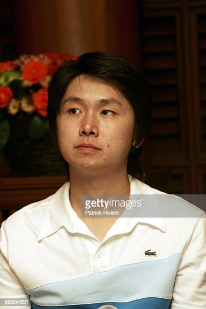 Codirector of Shutter Banjong Pisanthanakun attends a press conference at the Jim Thompson's House during the Bangkok International Film Festival on...