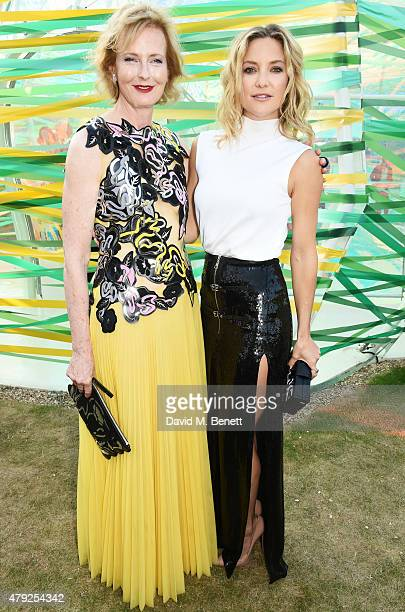 CoDirector of the Serpentine Gallery Julia Peyton Jones and Kate Hudson attend The Serpentine Gallery summer party at The Serpentine Gallery on July...