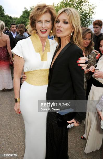 Codirector of the Serpentine Gallery Julia PeytonJones and Kate Moss attend the annual Serpentine Gallery Summer Party cohosted by L'Wren Scott at...