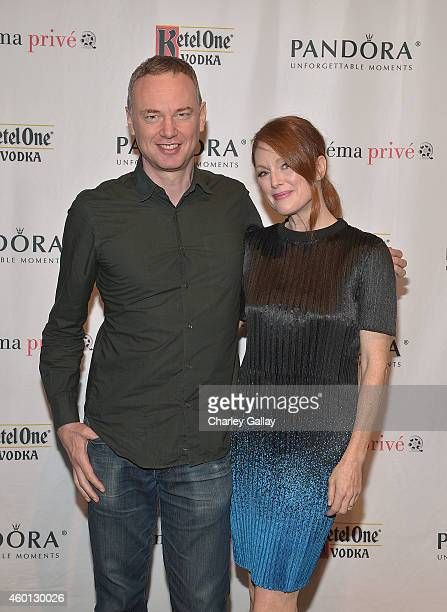 Codirector Wash Westmoreland and actress Julianne Moore attends cinema prive And PANDORA Jewelry Host A Special Screening Of Still Alice at CAA on...