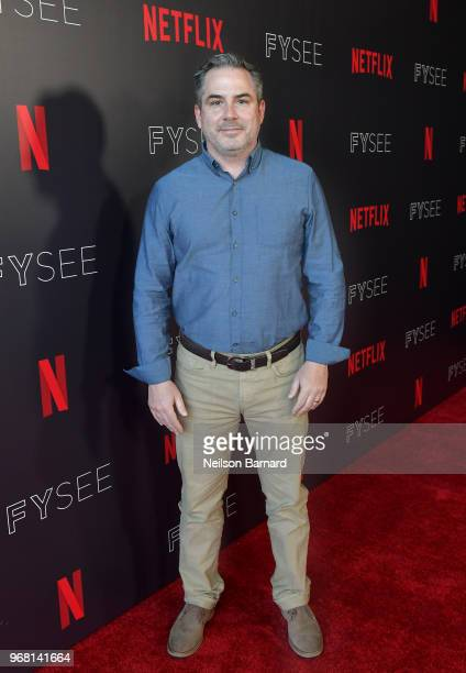 CoDirector/Executive Producer Trey Borzillieri attend the Netflix FYSEE Evil Genius Panel at Raleigh Studios on June 5 2018 in Los Angeles California