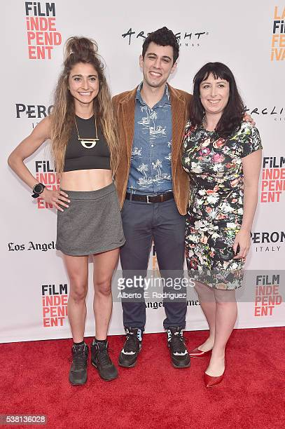 Codirectors Alexi Pappas and Jeremy Teicher and producer Laura Wagner attend the premiere of 'Tracktown' during the 2016 Los Angeles Film Festival at...