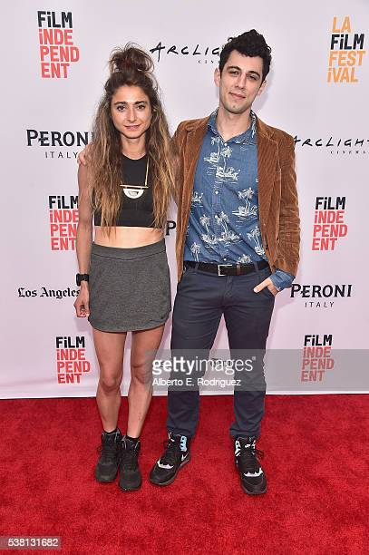 Codirectors Alexi Pappas and Jeremy Teicher attend the premiere of 'Tracktown' during the 2016 Los Angeles Film Festival at Arclight Cinemas Culver...