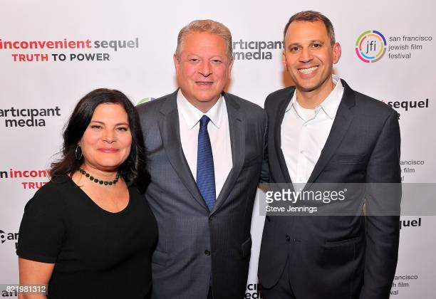 CoDirectors Bonni Cohen and Jon Shenk and Former Vice President Al Gore attend a special San Francisco screening of 'An Inconvenient Sequel Truth to...