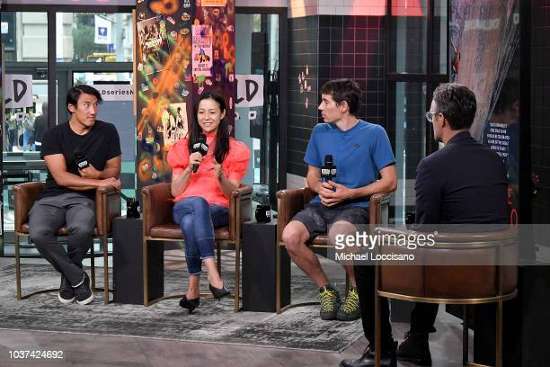 Codirectors Jimmy Chin and Elizabeth Chai Vasarhelyi and film subject Alex Honnold visit Build to discuss the documentary Free Solo at Build Studio...