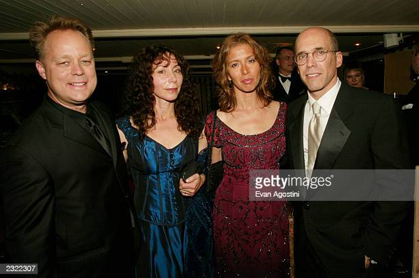 Codirectors Kelly Asbury and Lorna Cook with producers Mireille Soria and Jeffrey Katzenberg at the Spirit screening afterparty at Galleon during the...