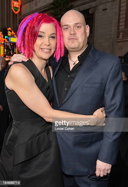 Codirectors Lana Wachowski and Andy Wachowski arrive at the Los Angeles premiere of Cloud Atlas at Grauman's Chinese Theatre on October 24 2012 in...
