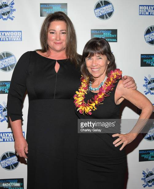 Codirectors of HRIFF's Best Documentary Film Poisoning Paradise Keely Shaye Brosnan and Teresa Tico attend the Hollywood Reel Independent Film...