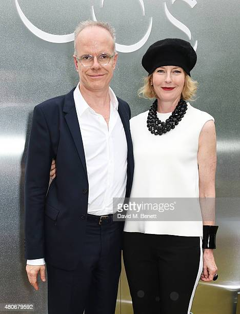 CoDirectors of The Serpentine Gallery Hans Ulrich Obrist and Julia Peyton Jones attend the COS x The Serpentine party at The Serpentine Gallery on...