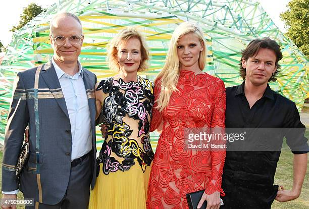 CoDirectors of the Serpentine Gallery HansUlrich Obrist and Julia PeytonJones Lara Stone and Christopher Kane attend The Serpentine Gallery summer...