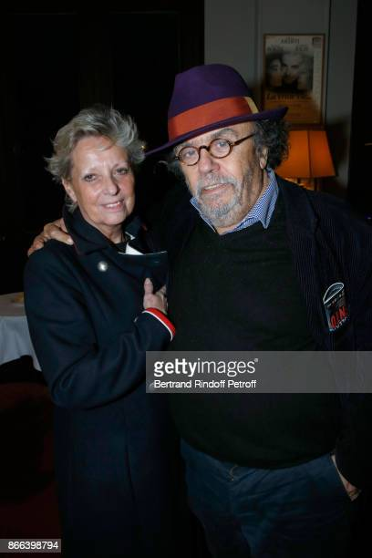 Codirectors of the 'Theatre du Rond Point' Valerie Bouchez and JeanMichel Ribes attend the 'Novecento' 200th Performance at Theatre Montparnasse on...