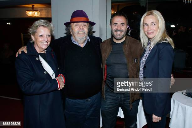 Codirectors of the 'Theatre du Rond Point' Valerie Bouchez and JeanMichel Ribes actor Jose Garcia and his wife director Isabelle Doval attend the...
