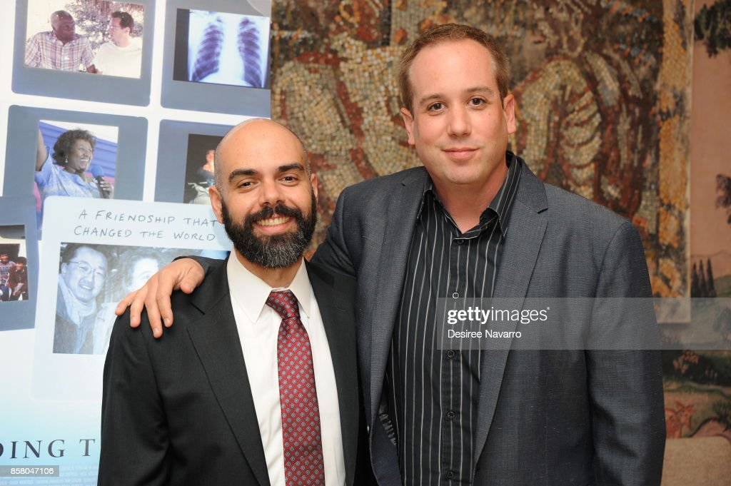 Co-Directors Pedro Kos (L) and Kief Davidson attend 'Bending The Arc' New York Screening at the Whitby Hotel on October 5, 2017 in New York City.