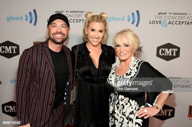 Cody Alan Savannah Chrisley and Tanya Tucker attend the GLAAD TY HERNDON's 2018 Concert for Love Acceptance at Wildhorse Saloon on June 7 2018 in...