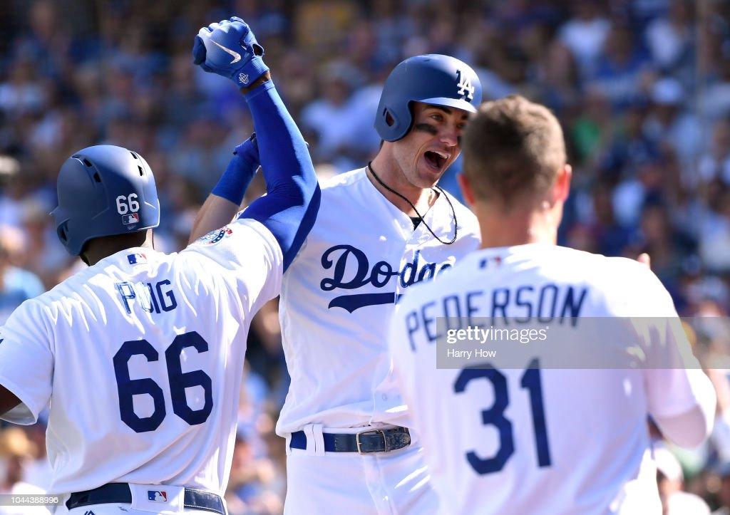 National League Tiebreaker Game - Colorado Rockies v Los Angeles Dodgers : News Photo