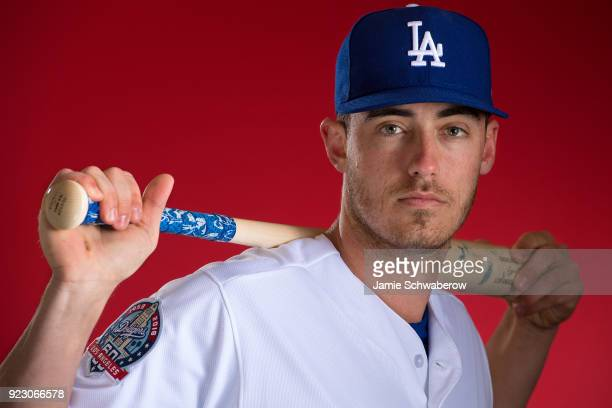 Cody Bellinger of the Los Angeles Dodgers poses during MLB Photo Day at Camelback Ranch Glendale on February 22 2018 in Glendale Arizona