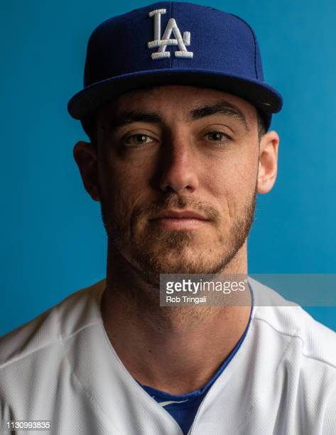 Cody Bellinger of the Los Angeles Dodgers poses for a portrait during photo day at Camelback Ranch on February 20 2019 in Glendale Arizona
