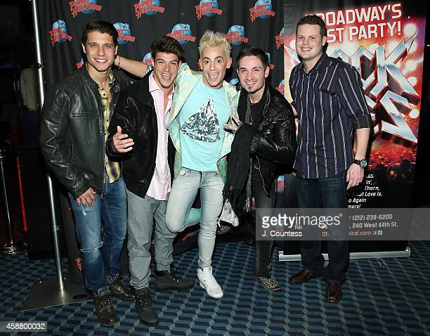 Cody Calafiore Ian Terry actor/dancer Frankie J Grande Caleb Reynolds and Andy Herren of Big Brother attend the afterparty for the debut performance...