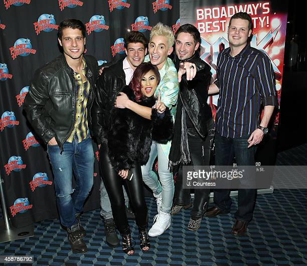 Cody Calafiore Ian Terry Paola Shea Actor/dancer Frankie J Grande Caleb Reynolds and Andy Herren of Big Brother attend the afterparty for the debut...