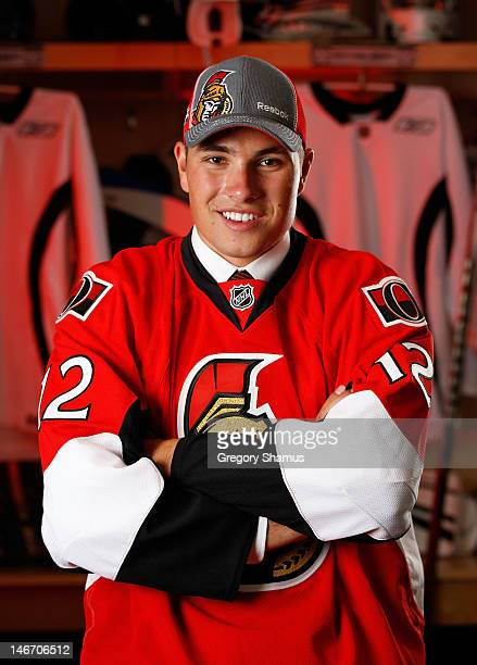 Cody Ceci 15th overall pick by the Ottawa Senators poses for a portrait during the 2012 NHL Entry Draft at Consol Energy Center on June 22 2012 in...