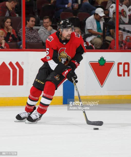 Cody Ceci of the Ottawa Senators skates against the Los Angeles Kings at Canadian Tire Centre on October 24 2017 in Ottawa Ontario Canada