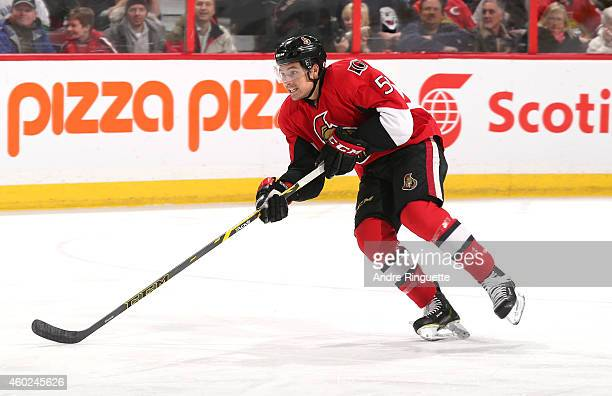 Cody Ceci of the Ottawa Senators skates against the Vancouver Canucks at Canadian Tire Centre on December 7 2014 in Ottawa Ontario Canada